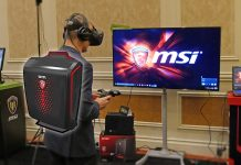 MSI VR Backpack ryggsäcksdator