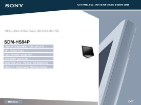 Download Free Sdm-Hs74p Sony Driver