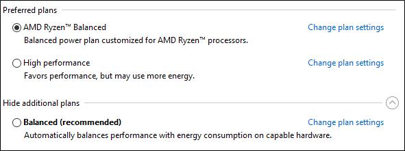 Ryzen-processorer energischema