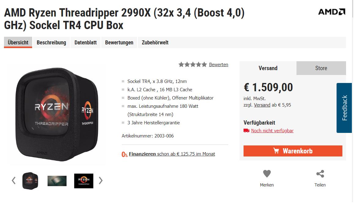 Ryzen Threadripper 2990X