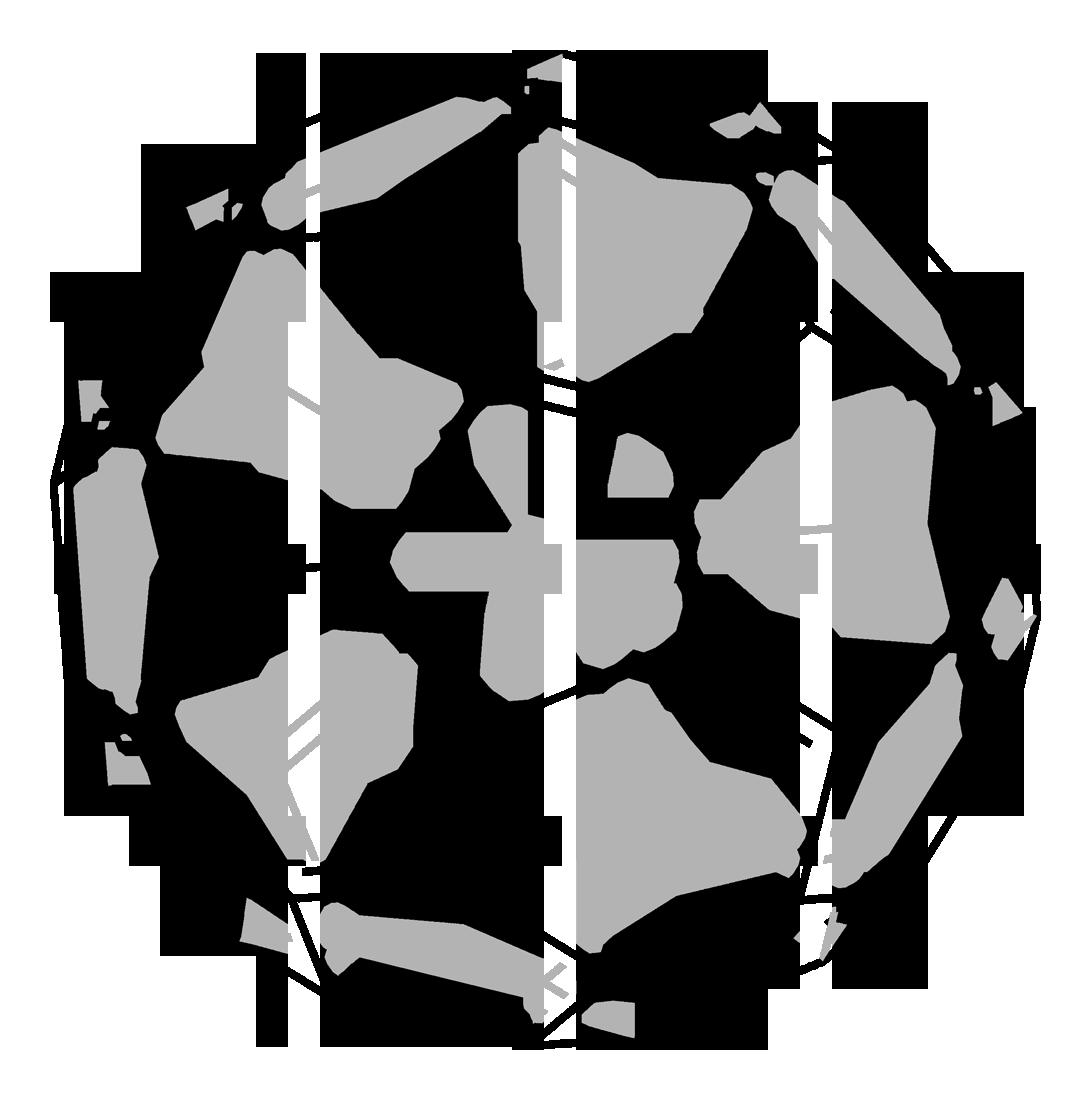 Buckminsterfullerene-2D-skeletal