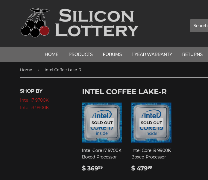 Core i9-9900K, 9700K