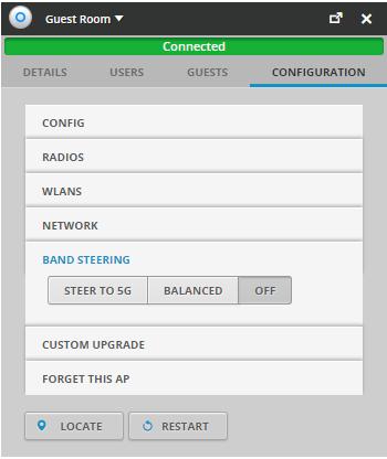 Du kan välja om din accesspunkt ska hanteran användningen av de trådlösa näten.