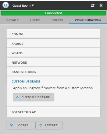Denna sida används för att upgradera din accesspunkt