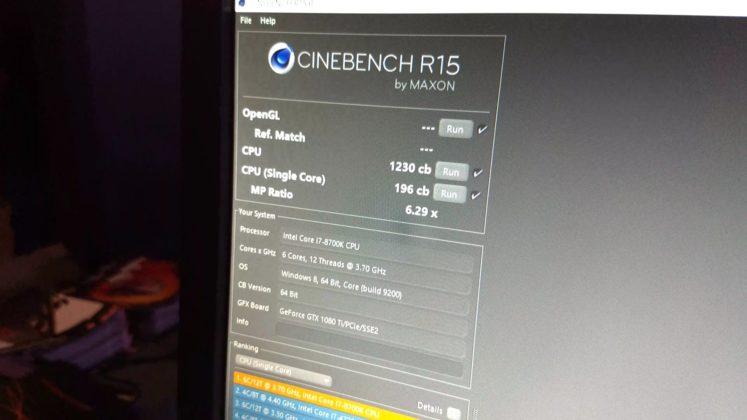 Core i7-8700K Cinebench R15