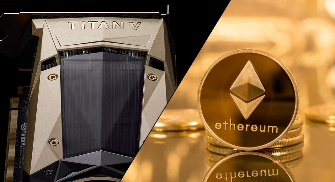 Ethereum Titan V mining