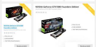 Geforce GTX 1080 butiker