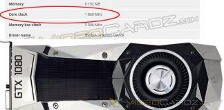 Geforce GTX 1080 1,86 GHz boost
