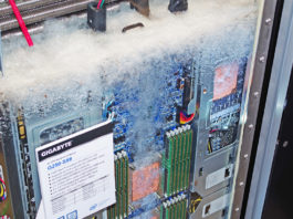 Gigabyte grafikkort vätska vattenkylning 3M