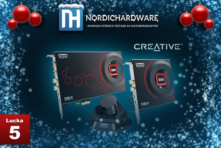 Julkalender Lucka 5 Creative Soundblaster ZxR
