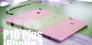 Huawei P10 Plus kommer till Sverige i slutet på april och gör det med en Iphone-lik design och häftiga färger. Vi jämför sida vid sida med Iphone 7 och Iphone 7 Plus