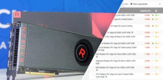 Radeon RX Vega 64 priser