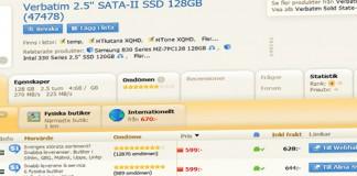 SSD-pris