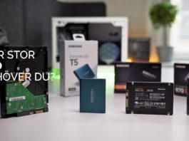 Samsung SSD Storlek