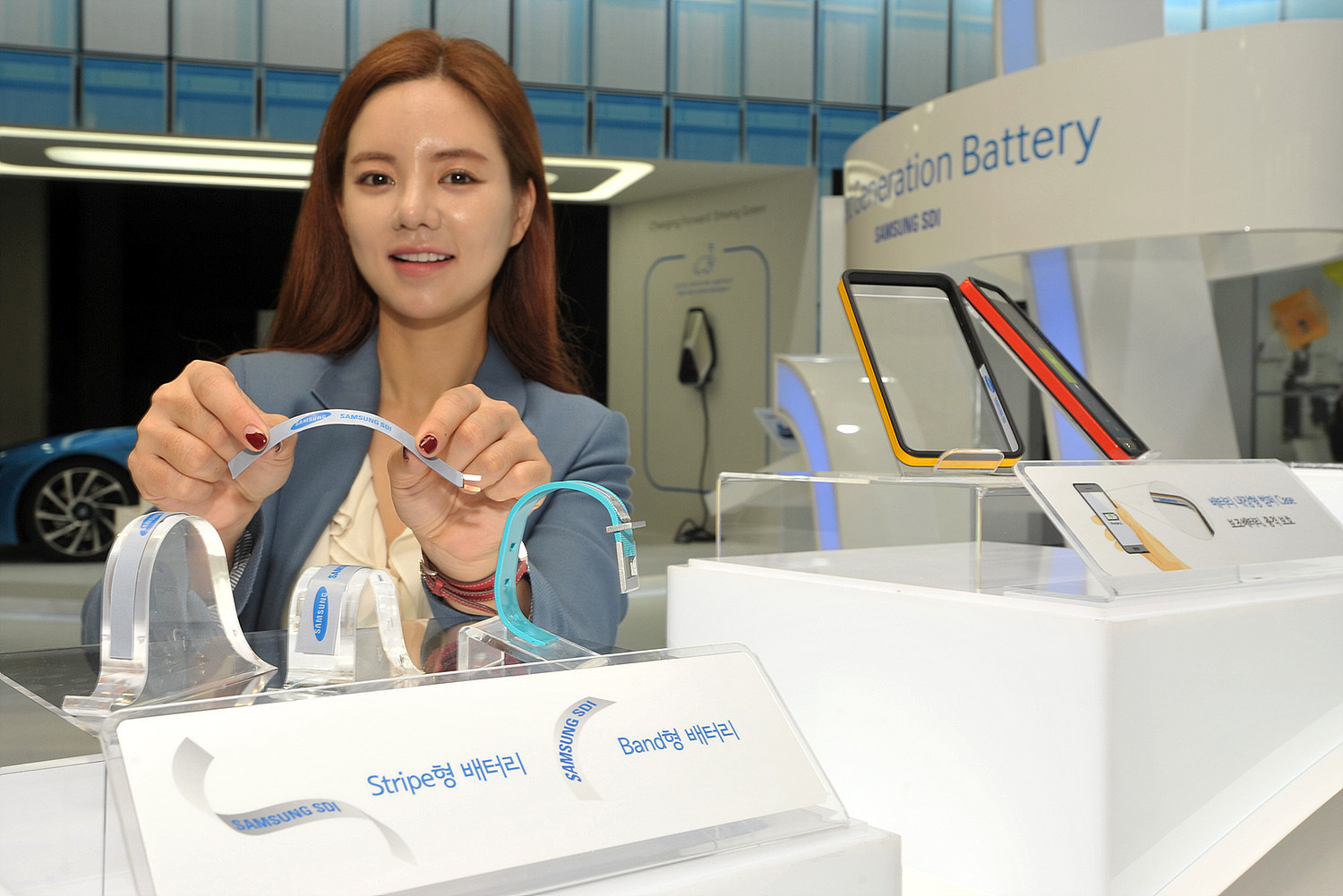 Samsung SDI unveiled Stripe and Band batteries at InterBattery 2015