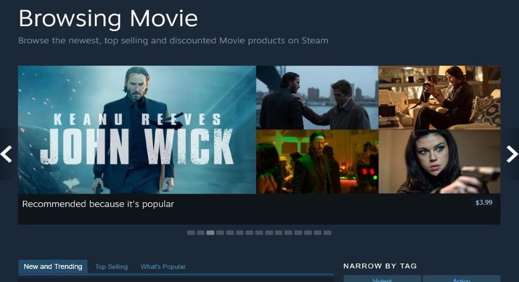Steam Valve videobutik