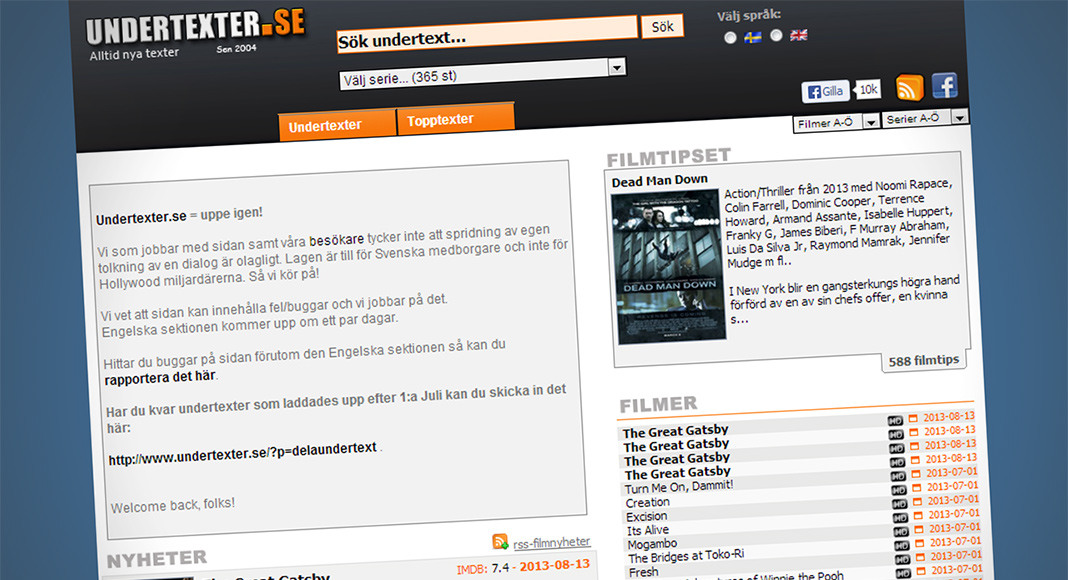 Undertexter.se