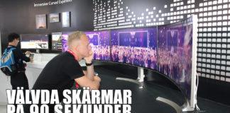 Välvda skärmar välvd TV