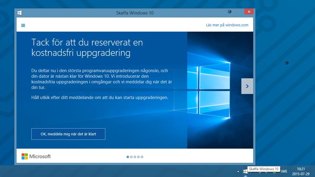 Uppgradering till Windows 10