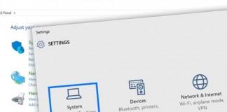 Windows 10 settings Control panel