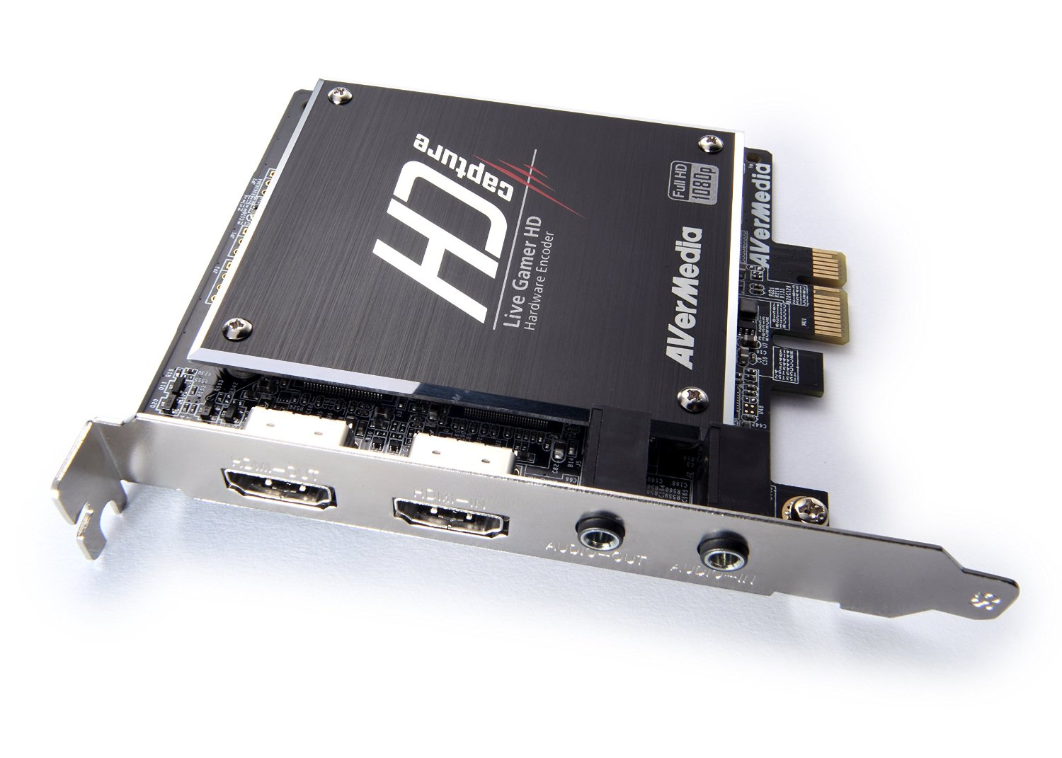 Avermedia LiveGamer HD is an example of a PCIe-card with a hardware encoder