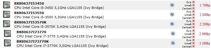 ivybridgepriser