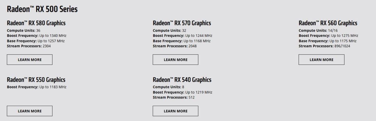 Radeon RX 500X
