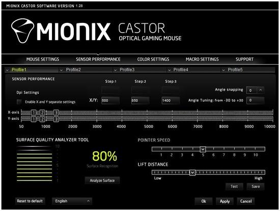 mionix castor software 2