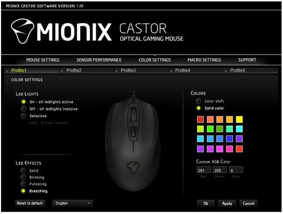 mionix castor software 3