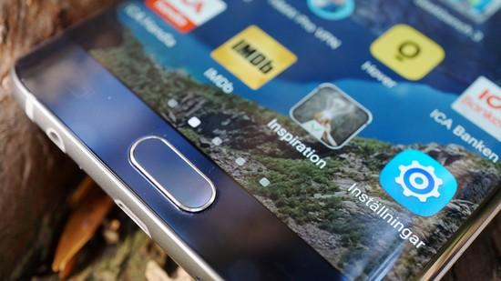 Samsung Galaxy S6 EdgePlus Recension fingeravtryck