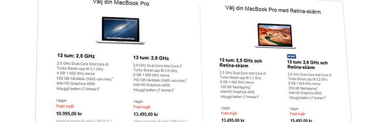 macbookpriser