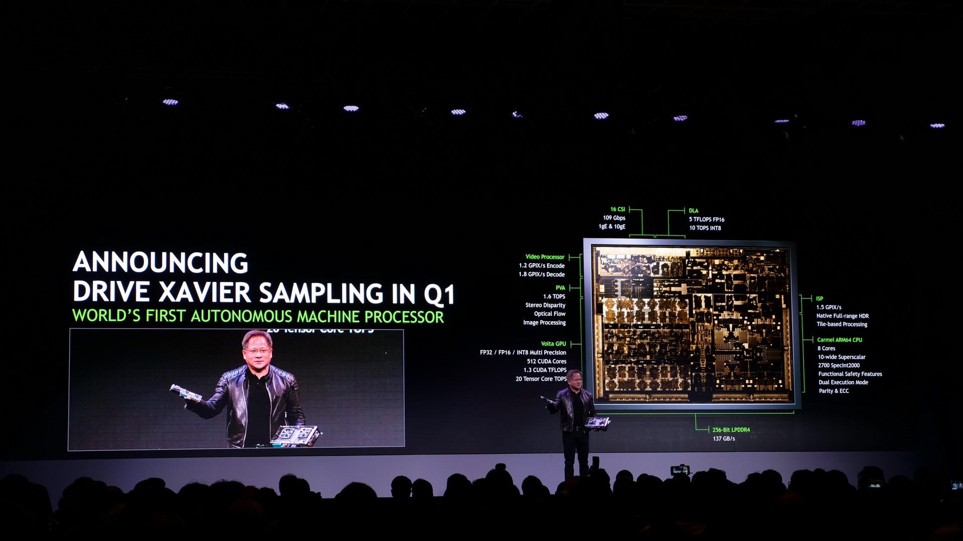 Nvidia storsatsar på självkörande bilar med superchippet Xavier