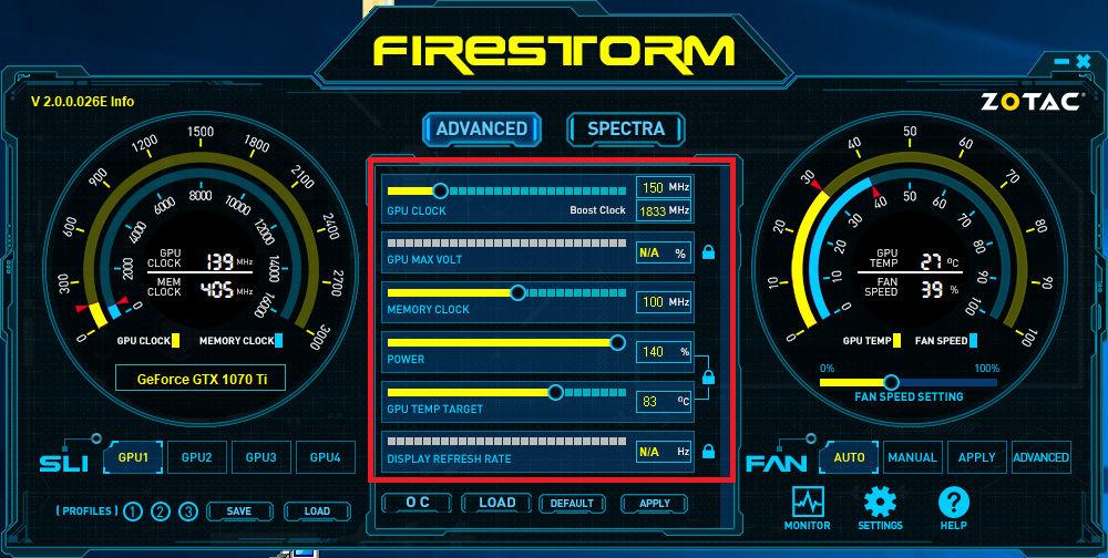 Zotac Firestorm GTX 1070 Ti